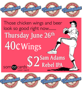 wings june 26th
