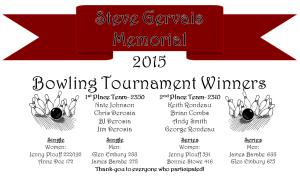 Steve Gervais 2015 Winners