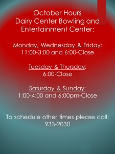 October Bowling Hours