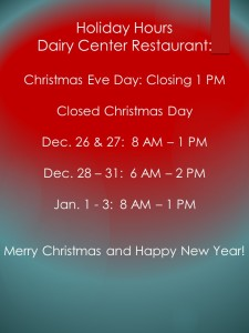 Holiday Restaurant Hours 2015