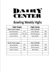 Bowling scores 1-11 and 1-13