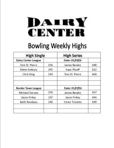 Bowling scores 1-25 and 1-27
