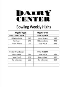 Bowling scores 9-19 and 9-21